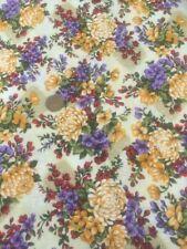 Asian Garden Orange Floral Fabri-Quilt 100 Cotton Quilting Fabric 112-2565