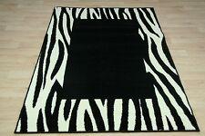 Quality Zebra Print Rug 120cm x 170cm Zebra Jungle Safari Animal Print Twist Rug