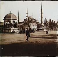 Costantinopoli Moschea Ahmet Turchia Placca Da Lente Stereo Vintage Ca 1905