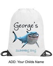 Boys Fish Shark Personalised Gym Swimming PE Bag School Gift Any Name