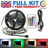USB 1M-5M Light RGB Colour 5050 LED Strip Light TV Backlight + Remote Control