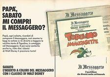 X0560 Il Messaggero di Roma - Pubblicità del 1989 - Vintage advertising