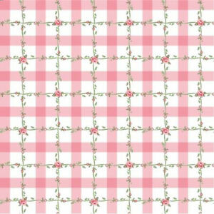 Poppie Cotton Dots & Posies  Pink Criss Cross DP20419  fabric Pink