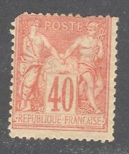 FRANCE STAMP #95 — 40c RED ON STRAW -- 1880  -- UNUSED