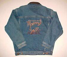 Mci Monterey Jazz Festival 41st Annual 1998 Unisex Blue Leather Denim Jacket M