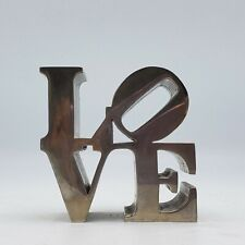 Vintage Robert Indiana Love Pop Art Modern Metal Sculpture Paperweight Desktop
