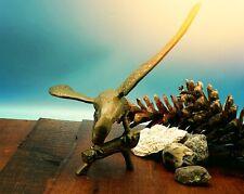 More details for vintage brass eagle desk ornament figurine spread wings