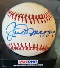 Joe DiMaggio Signed Vintage Lee MacPhail Baseball — PSA/DNA Autograph Ball