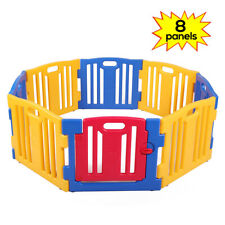 Baby Playpen Kids 8 Panel Safety Play Center Yard Home Indoor Pen Fence Outdoor