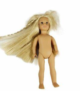 """American Girl Julie Albright Mini Doll Nude 6"""" BKF83 Blonde Hair Brown Eyes"""