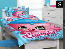 SHOPKINS CUPCAKE  SINGLE DOONA DUVET QUILT COVER, OFFICIAL MERCHANDISE NEW