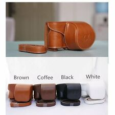 4-Color Leather Camera case bag Fr Sony Alpha A6000 A6300 With 16-50mm Lens ONLY