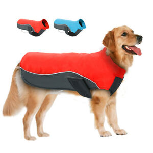 Waterproof Medium Large Dogs Winter Clothes Reflective Coat Warm Fleece Jacket