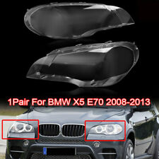 For 2008-2013 BMW X5 E70 330i Pair Right & Left Headlight Clear Lens Cover