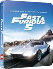 Fast & Furious 5 (Diesel, Walker, Johnson) BLU-RAY STEELBOOK NEUF