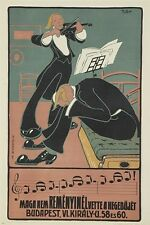 VINTAGE MUSIC POSTER FROM BUDAPEST unique style tuxedos CLASSICAL 24X36 new