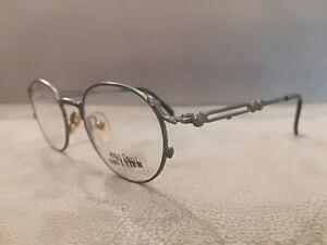 Jean Paul Gaultier JPG Vintage Round Eyeglasses Frames 55-4177 Matte Silver 46