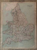 1872 England & Wales Large Hand Coloured Map By W.G. Blackie 72 cm x 56 cm