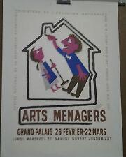 AFFICHE ANCIENNE ARTS MENAGERS GRAND PALAIS PARIS FRANCIS BERNARD
