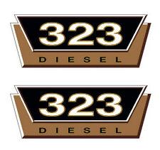 2x IHC Typenaufkleber Gold 323 Logo Emblem Sticker Label ca. 20x7,5cm