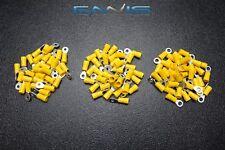 150 PK 10-12 GAUGE AWG VINYL RING CONNECTORS 50 PCS EA TERMINAL CRIMP #6 #8 #10