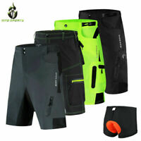 Mens Baggy Cycling Shorts MTB Mountain Bike Short Pants Gel Padded short Pants