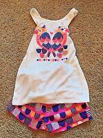NWT Girls Circo White Sleeveless Tank Top Pink Shorts 2pc Sleep Set XS 4/5