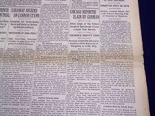 1930 JUNE 10 NEW YORK TIMES - CHICAGO REPORTER ALFRED LINGLE SLAIN - NT 1565