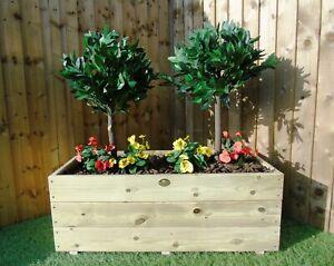 XL Large Wooden Garden Decking REVERSE Planter Pot Handmade 60 80 100 cm