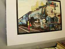 Texas Pacific RR Sunshine Special Color  artist Railroad Archives Museum