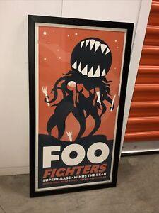 FOO FIGHTERS 14x25.5 Framed Concert Poster 2008 Limited & Signed DAN STILES