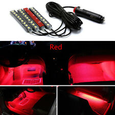4x Red 9 LED Charge Car Interior Accessories Foot Car Decorative Light Lamps