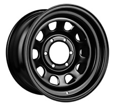17 INCH KING STEEL D-HOLE WHEEL 17X8 6X114.3 +18 OFFSET BLACK WHEELS