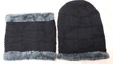 2Pcs Scarf Hat Women Men Soft Warm Thick Cable Winter Set