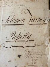 ANTIQUE HANDWRITTEN 19th CENTURY MATH BOOK  DATES 1802 SOLOMON VARNEY