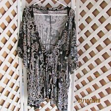 Jaclyn Smith Ladies Cover Tunic Top Large Black