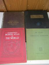 Antique Map Atlas Lot Vintage Commercial Geography Population World Globe 1881
