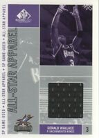 2002-03 SP Game Used All-Star Apparel #GW-AS Gerald Wallace Sacramento Kings