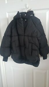Girls Black Padded Jacket With Concealed Hood Age 10 Years From Next Brand New