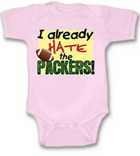 I Already Hate the Packers Football Baby Bodysuit New Gift Choose Size & Color