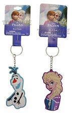 DISNEY'S FROZEN KEY CHAIN SET! ELSA & OLAF RUBBER HALF BODY CLIP-ON KEY RING