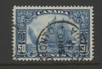 CANADA #158  used VF BLUENOSE  50c CDS