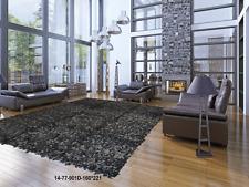 Leather Rug Shaggy carpet Genuine Leather Rug 14-77-901D-160*221