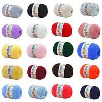 50g Baby Soft Cashmere Silk Wool Hand Knitting Crochet Yarn Ball Woolcraft Ball