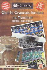 2001 Tipperary v Limerick - Munster Senior Hurling Championship Final Programme