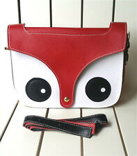 Handbag Messenger Bags Sling Shoulder Bag Flaps Sling Bag Cute fox Red