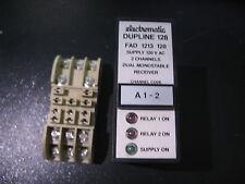 """ELECTROMATIC DUPLINE 128 """"FAD 1213 120"""" DUAL MONO RECIEVER RELAY w. D411 SOCKET"""