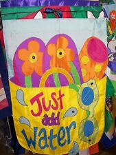 """Just Add Water"" Beach Bag & Flip Flops No packaging Applique HOUSE Flag"