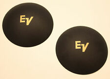 """E/V 4"""" Dust Caps Dustcaps With Gold Logo Nos !"""
