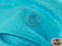 "Satin Shantung Solid Fabric MINT BLUE / 60"" Wide / Sold by the yard"